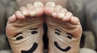 Przykry zapach stóp